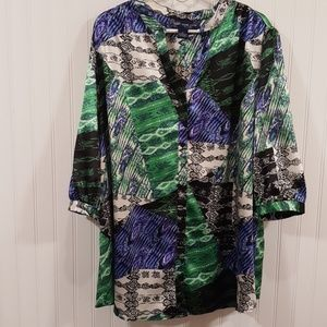 Susan Graver satiny blouse sz 2X
